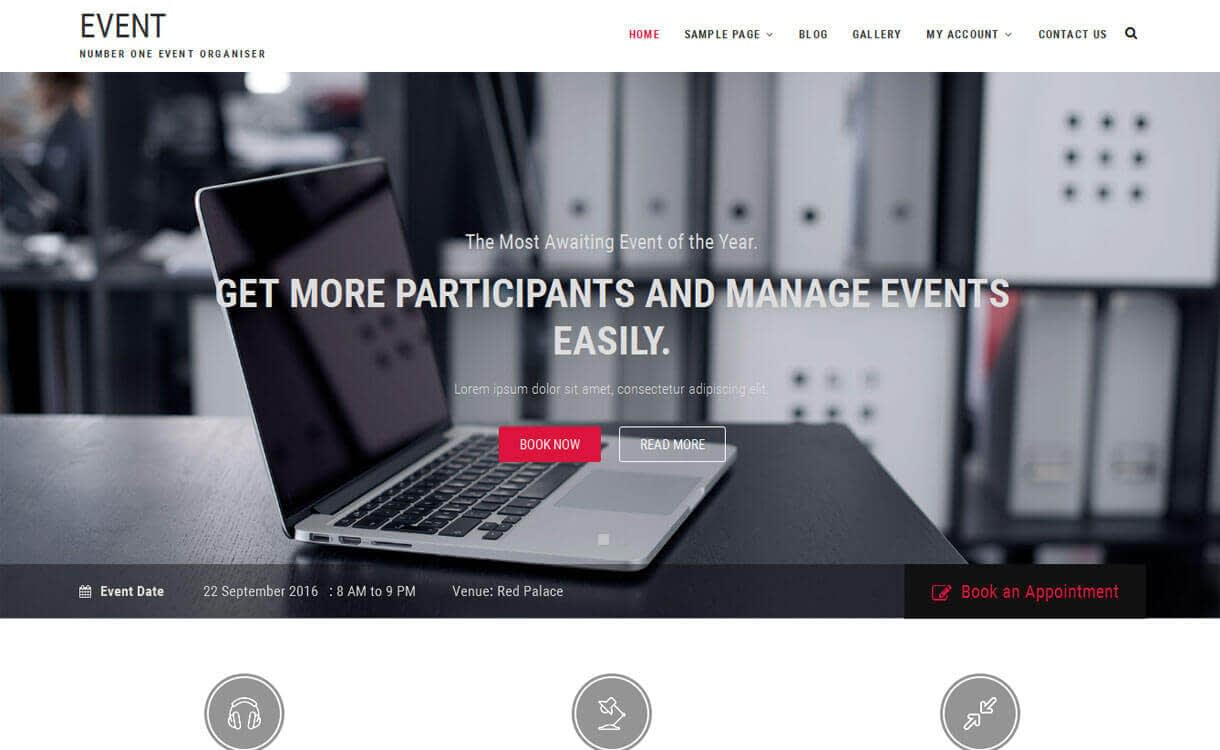 Event - 11+ Best Free Responsive WordPress Themes December 2016