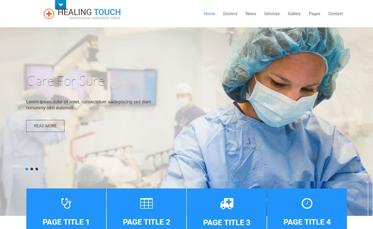 Healing Touch - 23+ Best Free WordPress Health and Medical Themes 2019