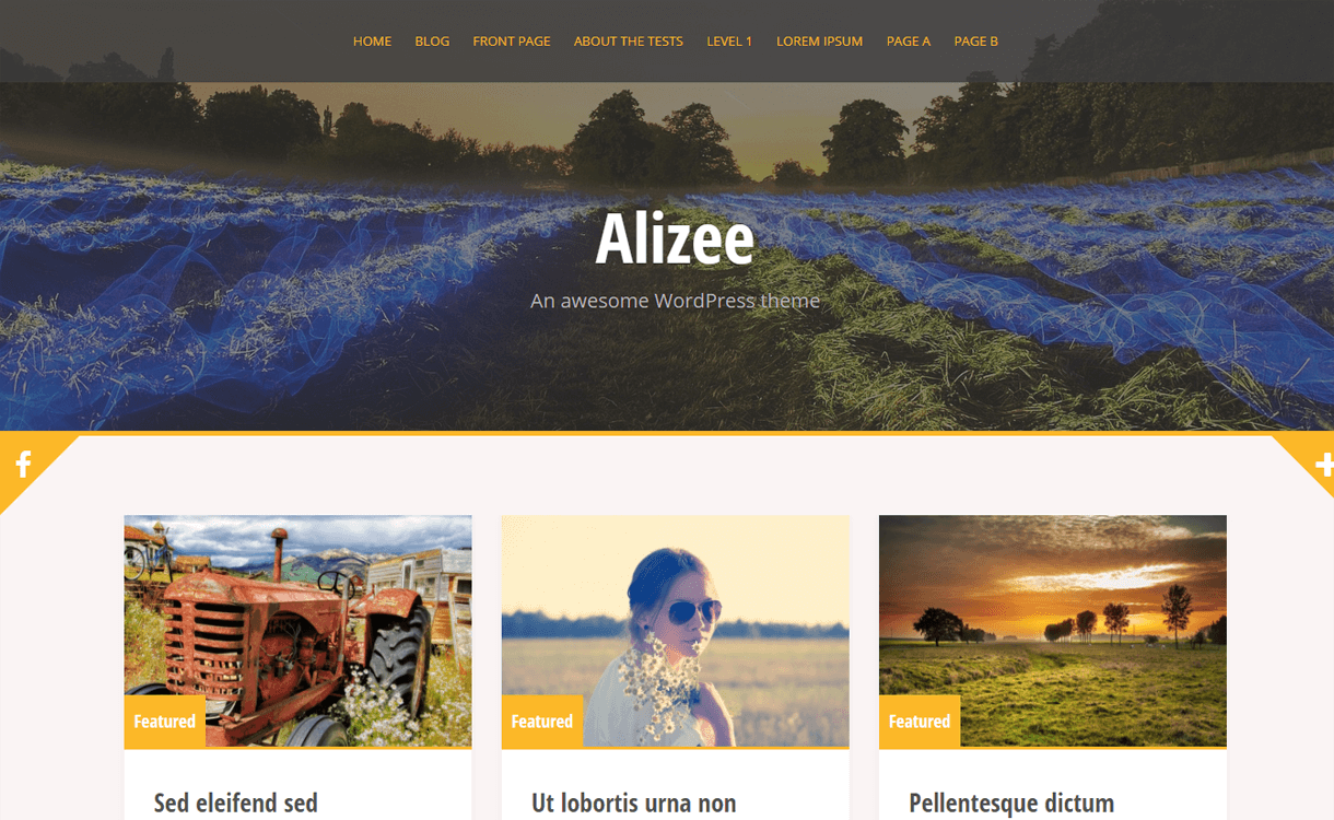 alizee best free wordpress blog themes - 30+ Best Free WordPress Personal/Professional Blog Themes for 2019
