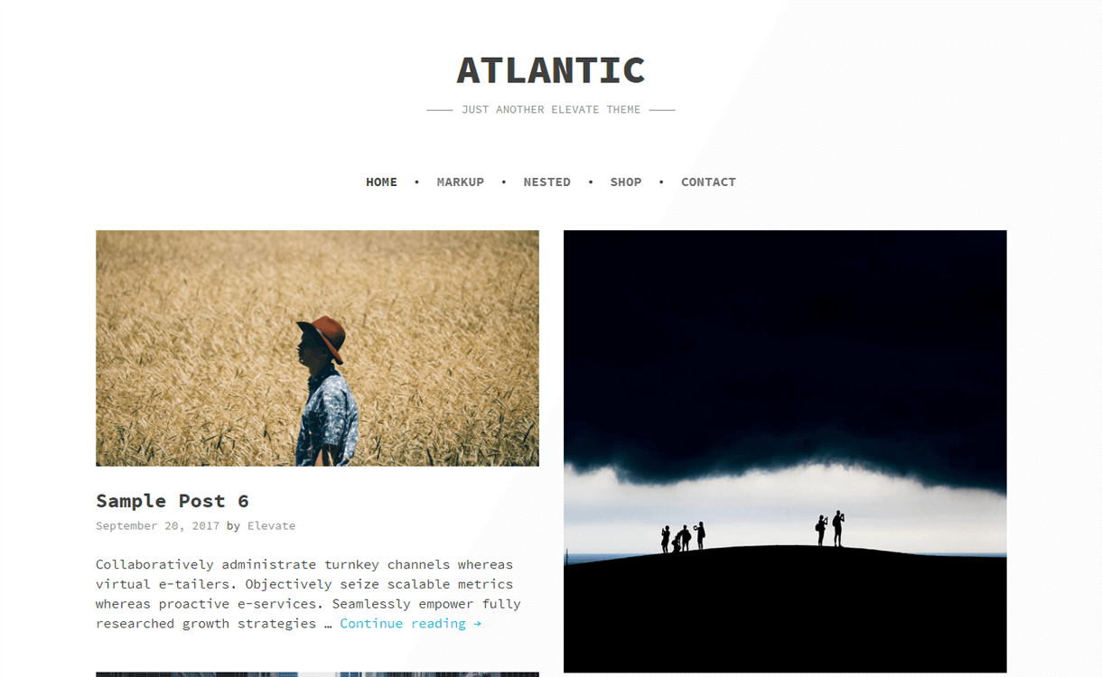 atlantic best free photography wordpress themes - 30+ Best Free WordPress Photography Themes for 2019