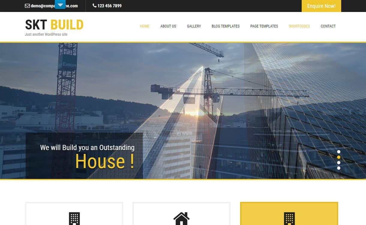build lite best free constr - 20+ Best Free WordPress Construction Company Themes for 2019