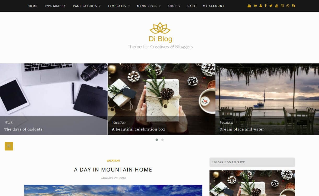 di blog best free wordpress blog themes - 30+ Best Free WordPress Personal/Professional Blog Themes for 2019