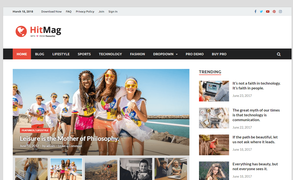 hitmag best free magazine wordpress themes 1 - 25+ Best Free WordPress News-Magazine/Online Editorial Themes for 2019