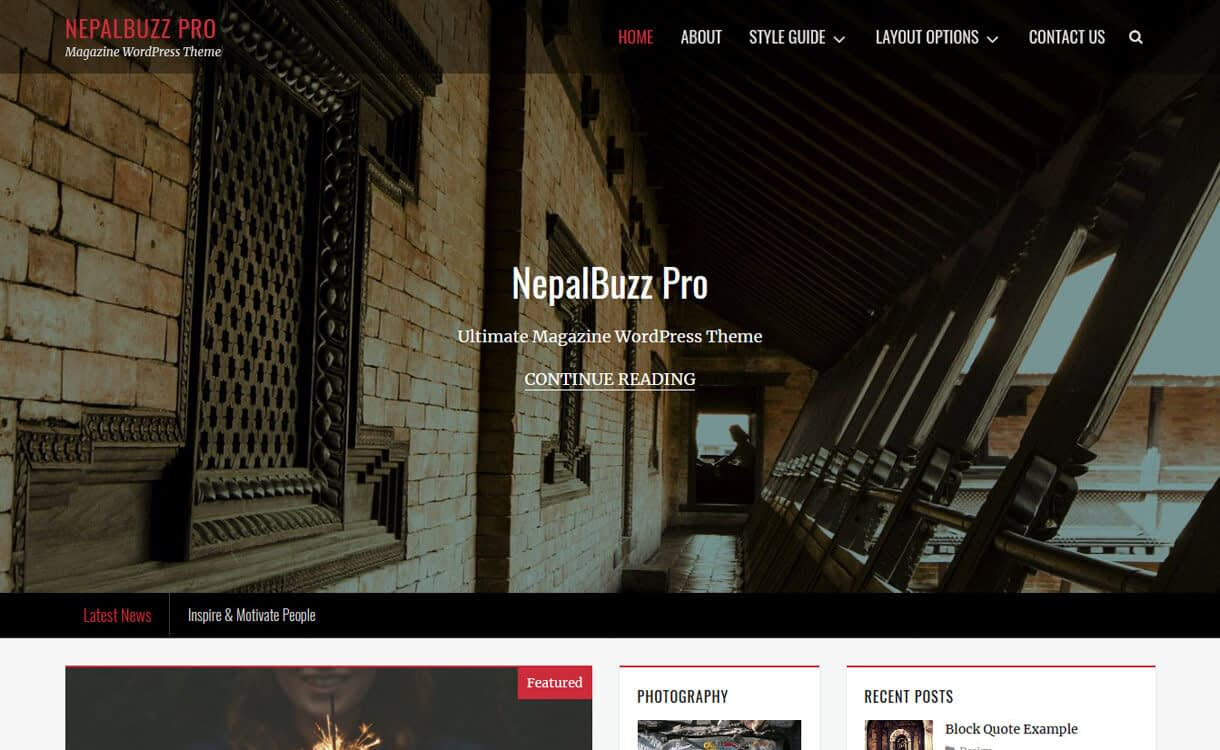 nepalbuzz best free wordpress blog themes - 30+ Best Free WordPress Personal/Professional Blog Themes for 2019