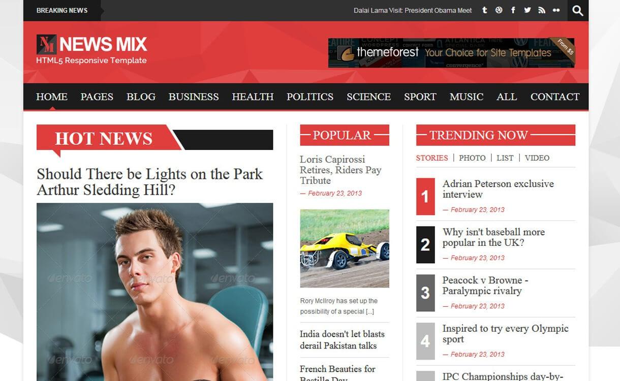 News Mix Lite-Best Free WordPress News-Magazine/Online Editorial Themes