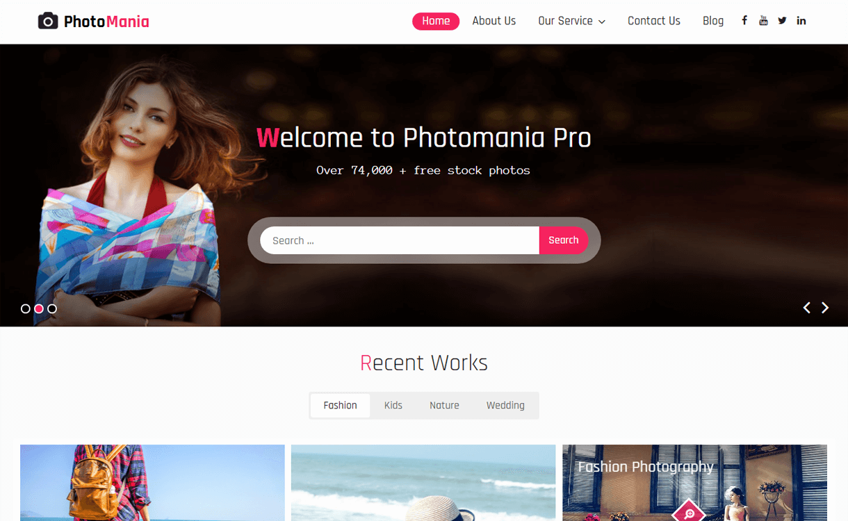 photomania best free photography wordpress themes - 30+ Best Free WordPress Photography Themes for 2019
