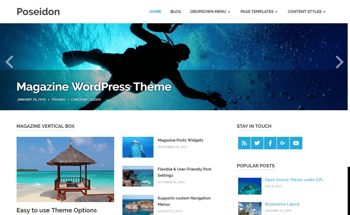 Poseidon-Best Free WordPress News-Magazine/Online Editorial Themes
