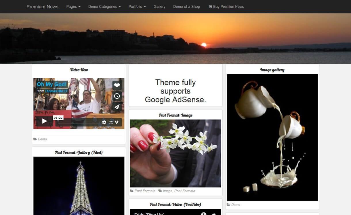 PR News-Best Free WordPress News-Magazine/Online Editorial Themes