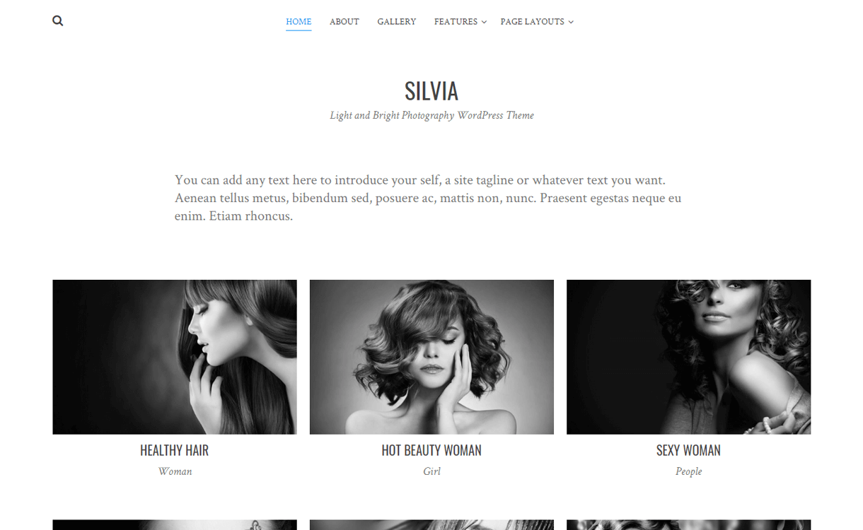 silvia best free photography wordpress themes - 30+ Best Free WordPress Photography Themes for 2019