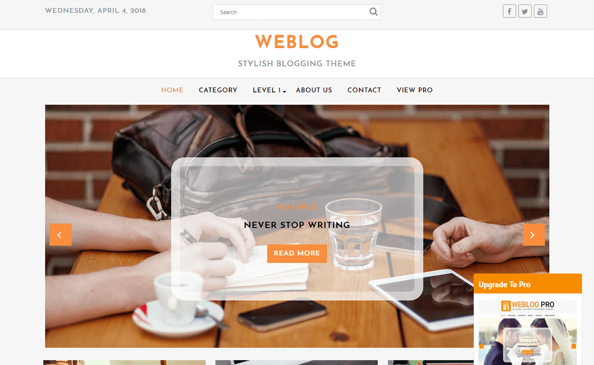 weblog best free wordpress blog themes - 30+ Best Free WordPress Personal/Professional Blog Themes for 2019