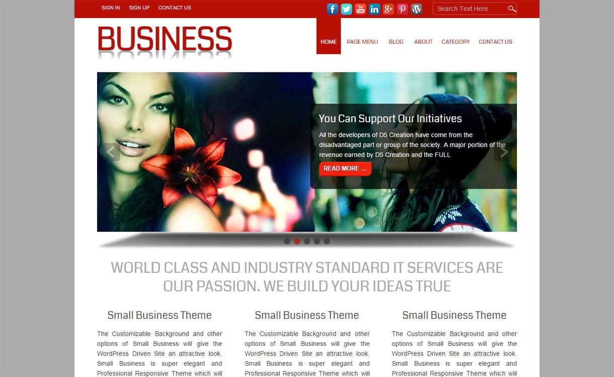 SmallBusiness - Premium Business WordPress Theme