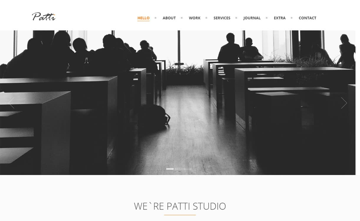 Patti - 15+ Best Premium WordPress One Page Themes 2019