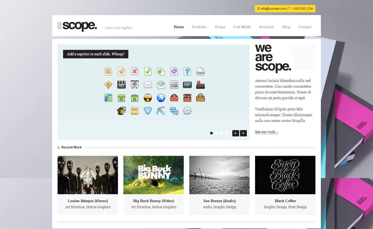 Scope - Premium Business Agency Theme for 2017