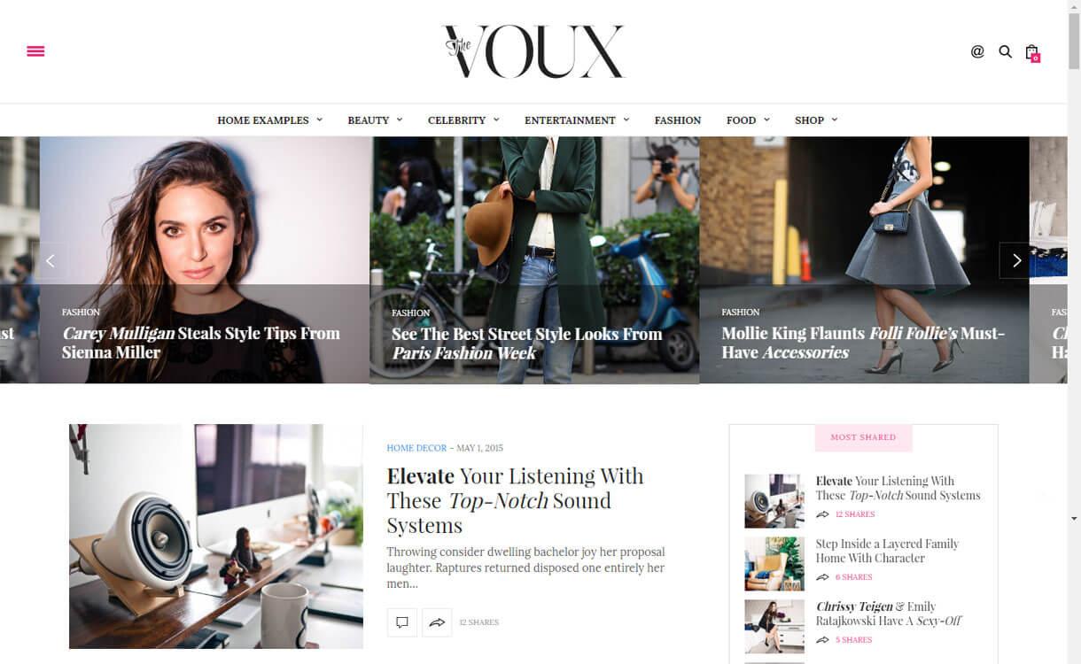 TheVoux - 21+ Best Premium WordPress News/Magazine/Editorial Themes 2019