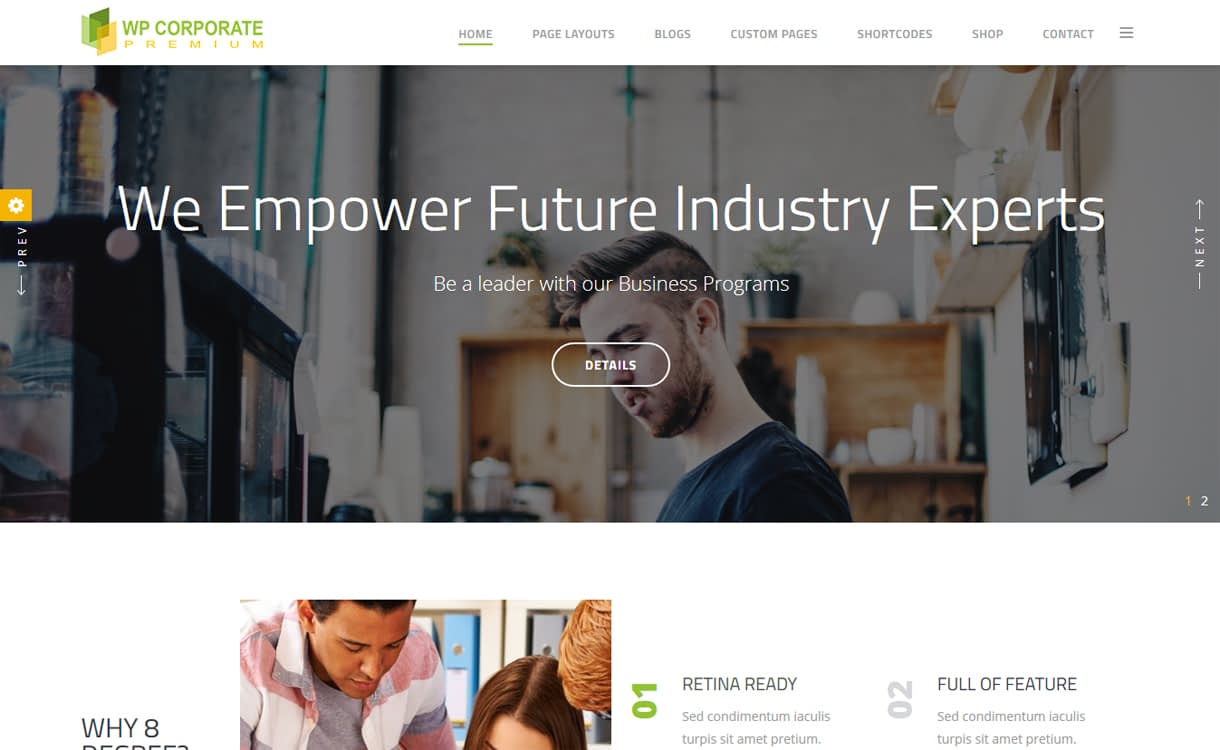 WP Corporate Pro Premium WordPress Business Theme - 30+ Best Premium WordPress Business/Agency Themes for 2019