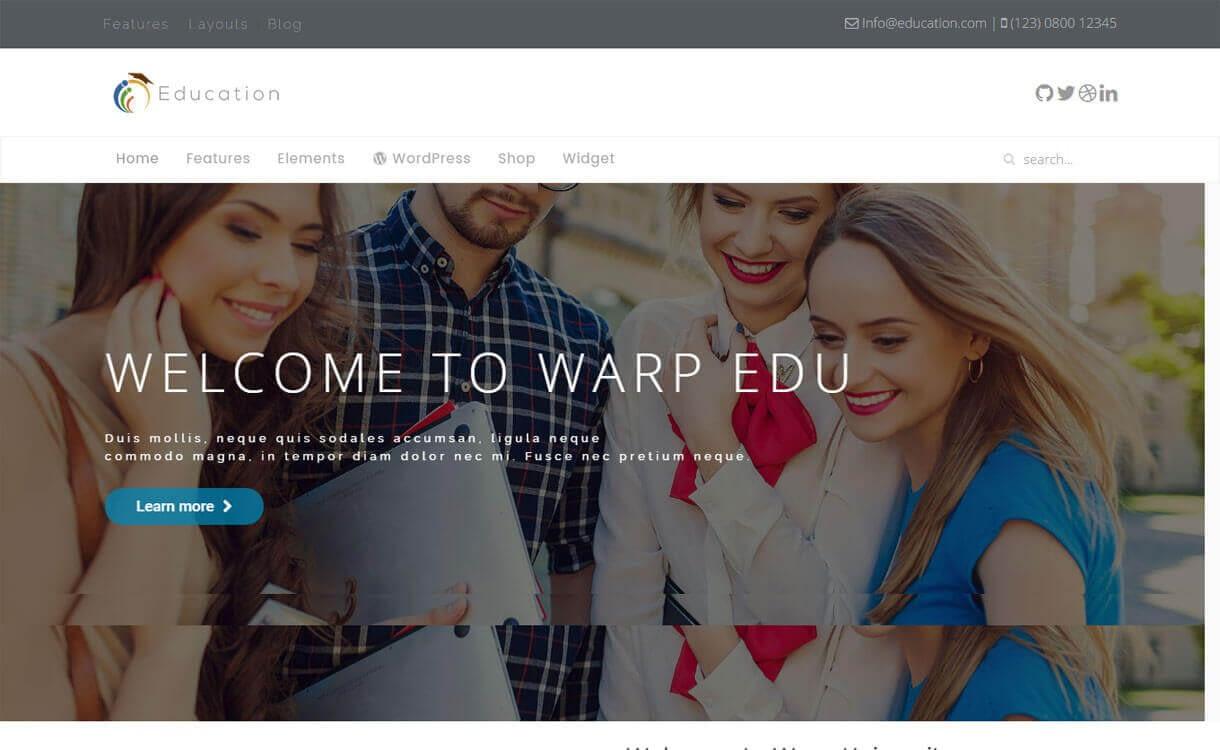 WT Education - Best Free WordPress Education Themes 2018