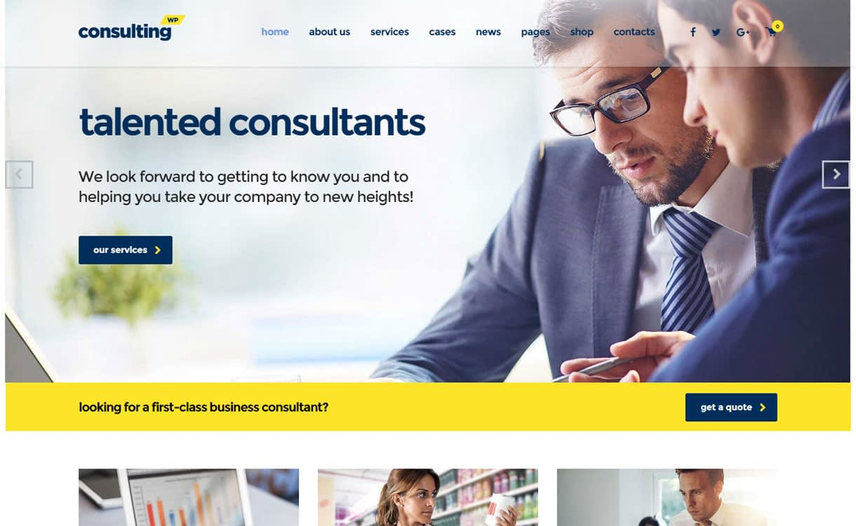 consulting 1 - 30+ Best Premium WordPress Business/Agency Themes for 2019