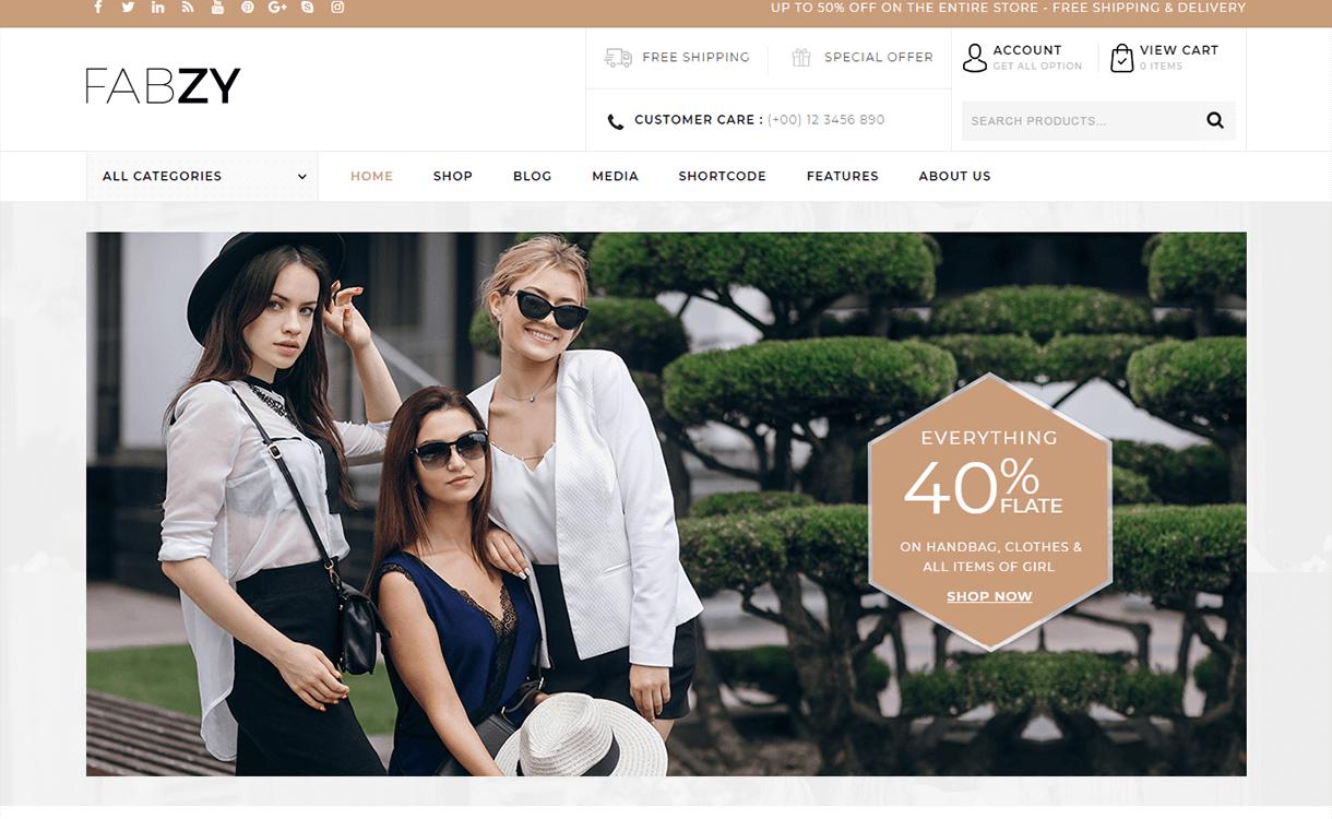 fabzy premium woocommerce wordpress theme - 30+ Best Premium WordPress eCommerce/WooCommerce/Online Store Themes 2019