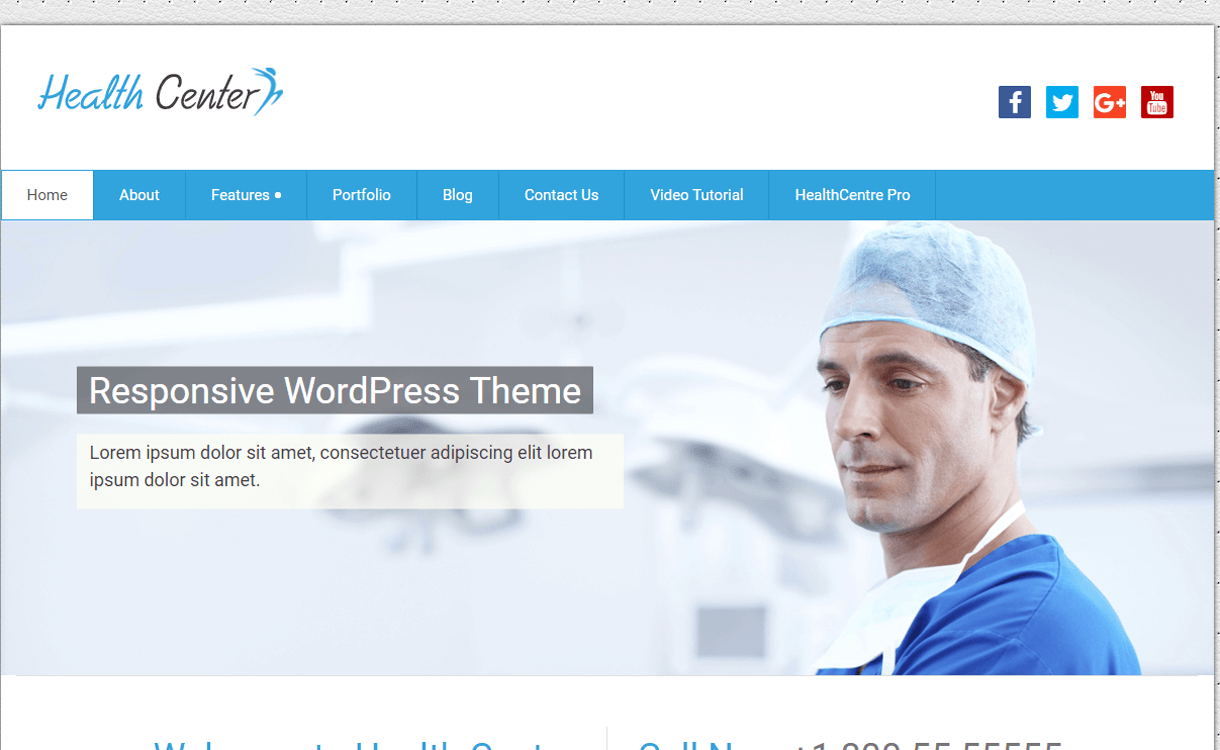 health center lite best free medical wordpress themes - 23+ Best Free WordPress Health and Medical Themes 2019