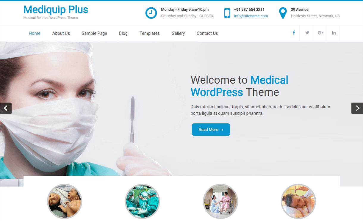 mediquip plus best free medical wordpress themes - 23+ Best Free WordPress Health and Medical Themes 2019