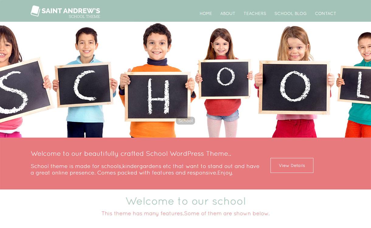 School - Best Free Education WordPress Themes 2018