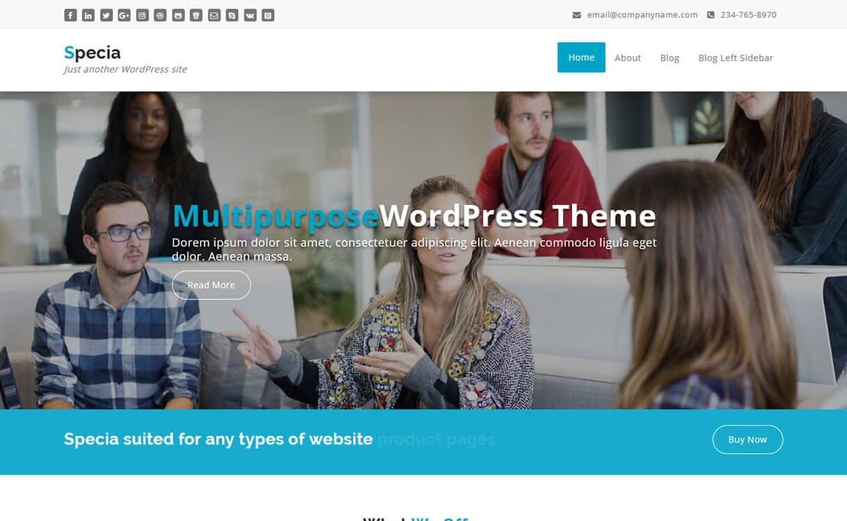 specia best free medical wordpress themes - 23+ Best Free WordPress Health and Medical Themes 2019