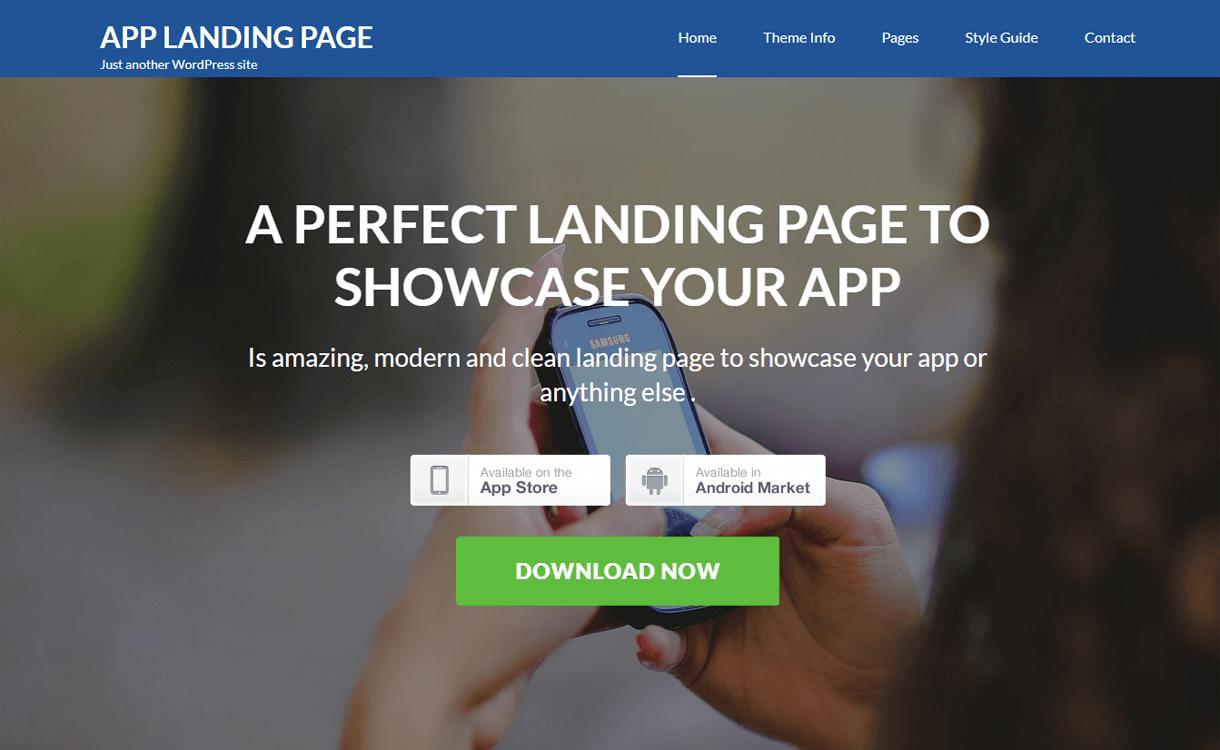 App Landing Page-Free WordPress Landing Page Theme