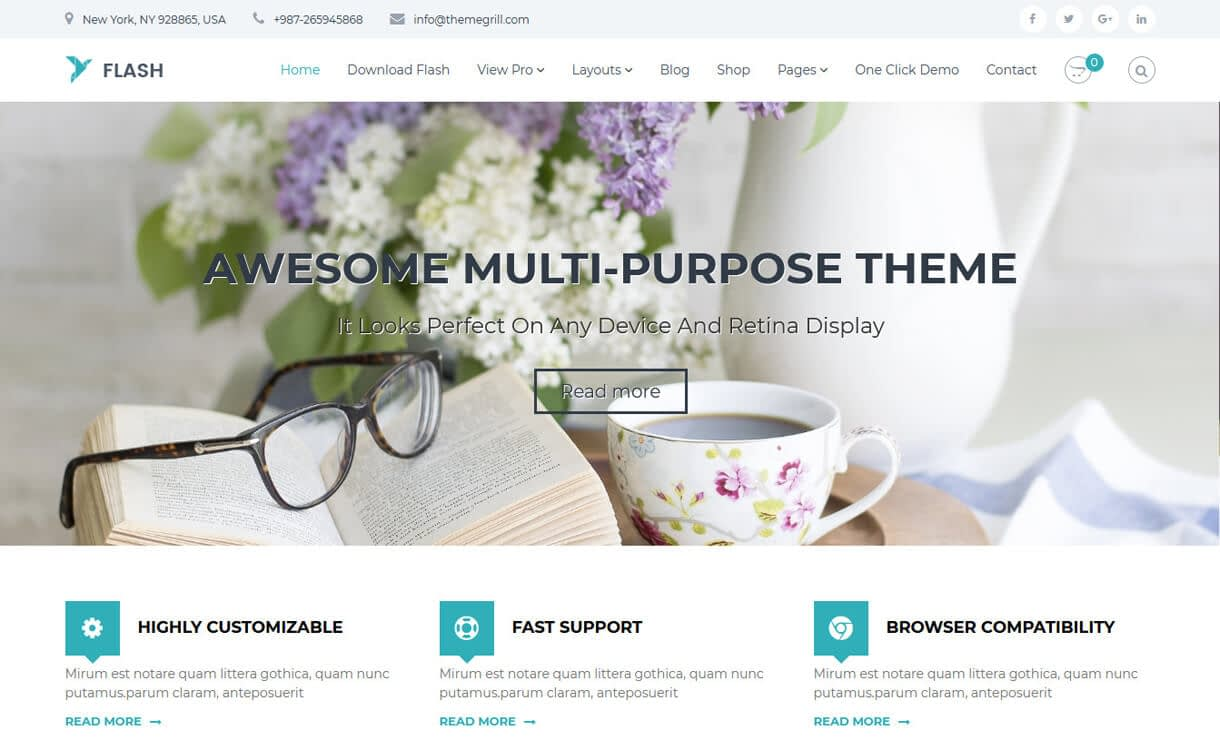 flash free wordpress landing page theme - 10+ Best Agency WordPress Themes and Templates (Free)