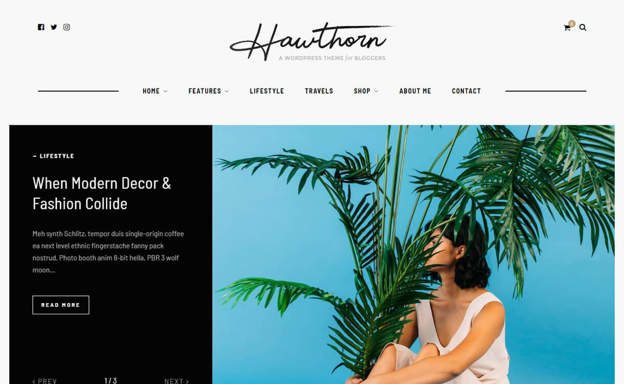 hawthron wordpress blog the - 30+ Best Premium WordPress Blog Themes 2019