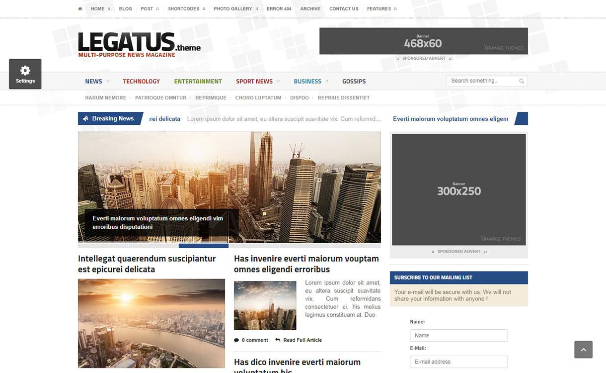 legatus - 21+ Best Premium WordPress News/Magazine/Editorial Themes 2019