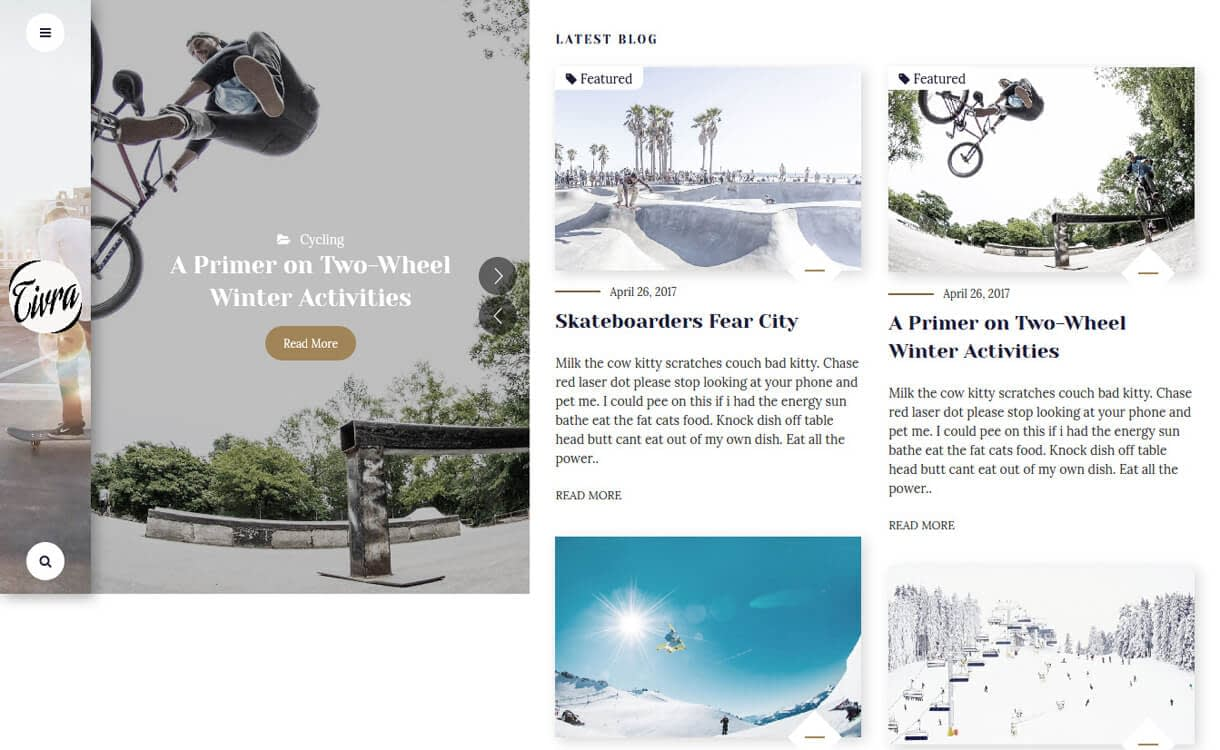 tivra premium wordpress blog theme - 30+ Best Premium WordPress Blog Themes 2019