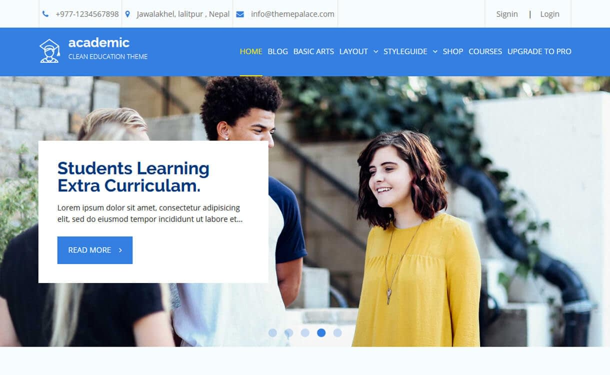 Academic-Best Free Education WordPress Themes 2018