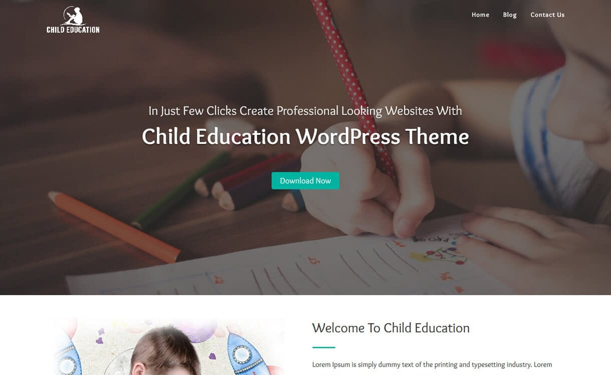 Child Education-Best Free Education WordPress Themes 2018
