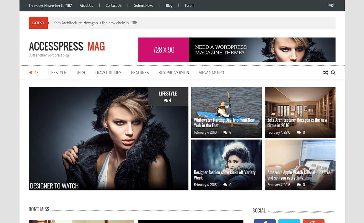 AccessPress Mag-Free Magazine WordPress Theme
