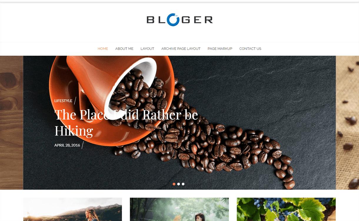 Bloger-Free Magazine WordPress Theme