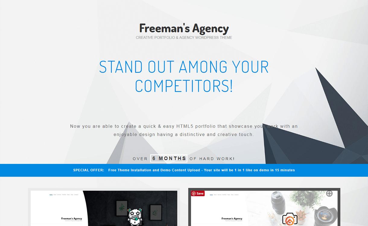 Freeman-Best Premium WordPress Business Agency Themes