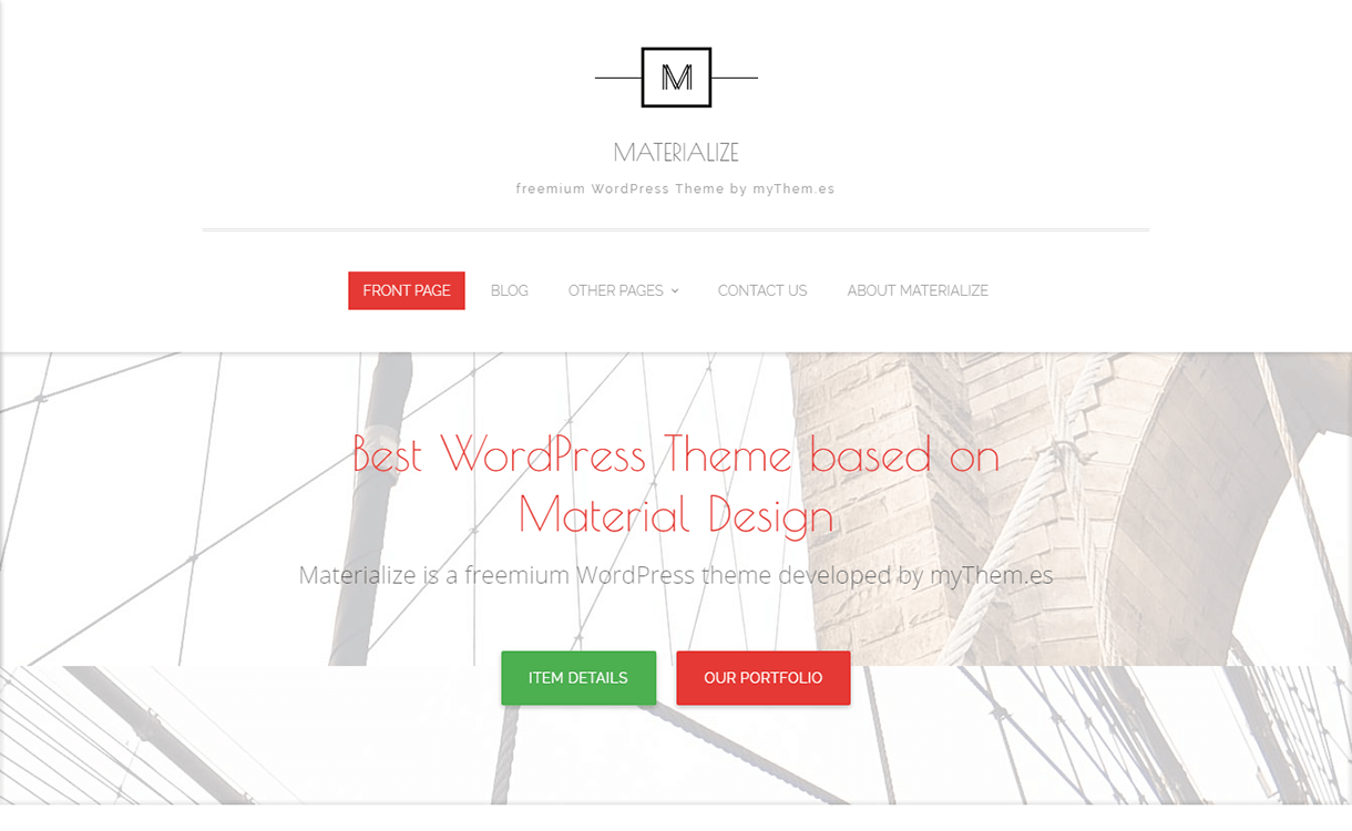 Materialize-WordPress Material Design Theme