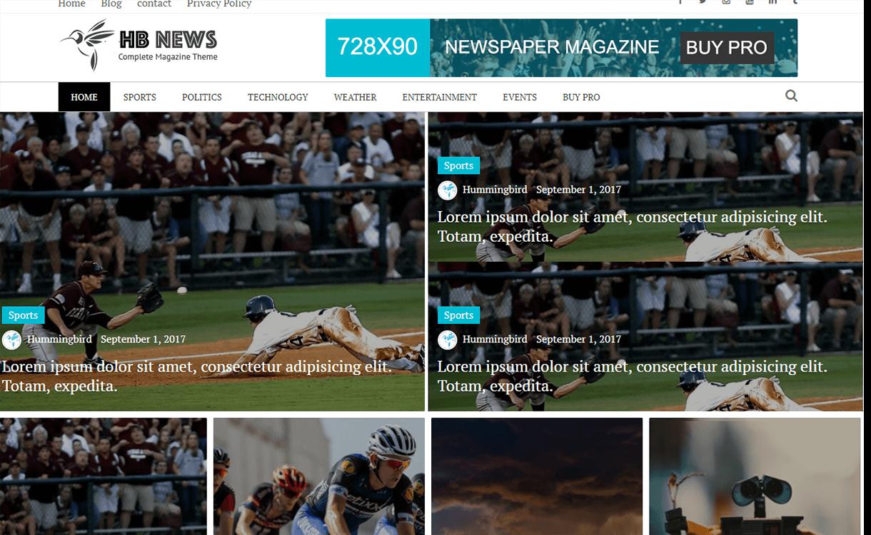 Newspaper Magazine-Free Magazine WordPress Theme