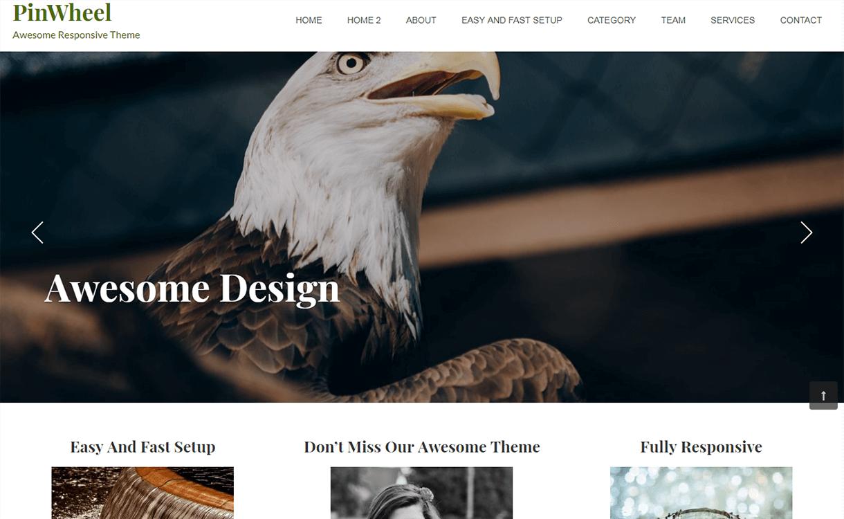 Pinwheel-Best Free WordPress Themes November 2017