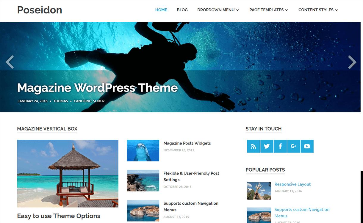 Poseidon-Free Magazine WordPress Theme