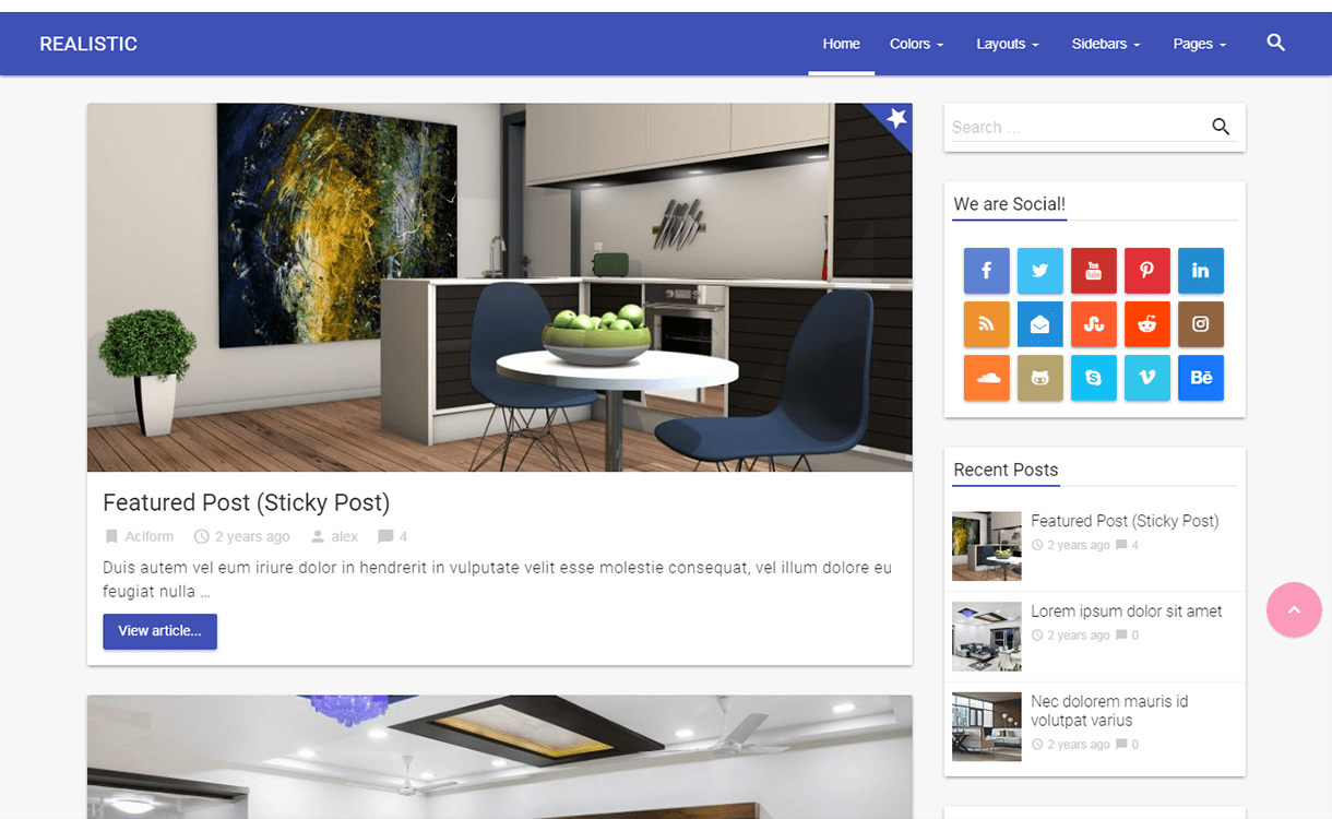 Realistic-WordPress Material Design Theme