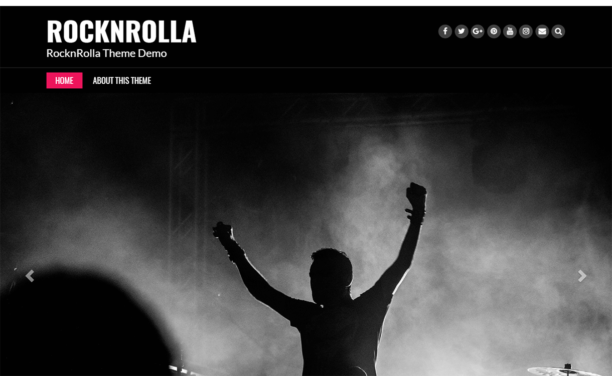 Rock N Rolla-WordPress Material Design Theme