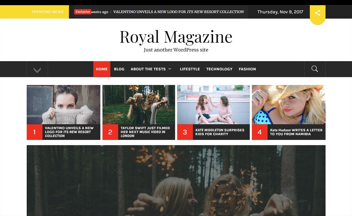 Royal Magazine- Free Magazine WordPress Theme