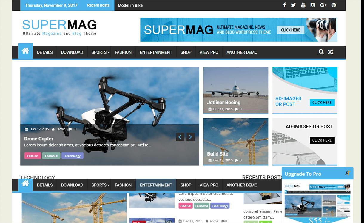 SuperMag-Free Magazine WordPress Theme