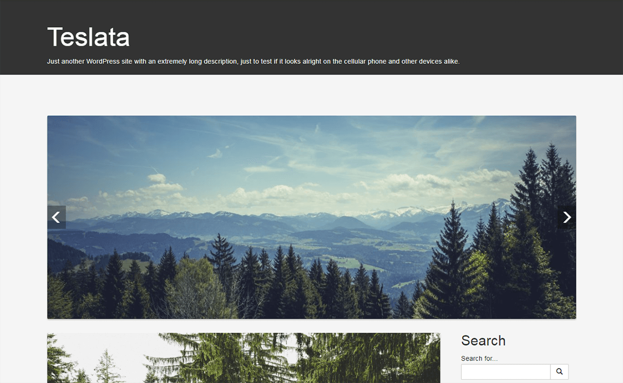 Teslata-WordPress Material Design Theme