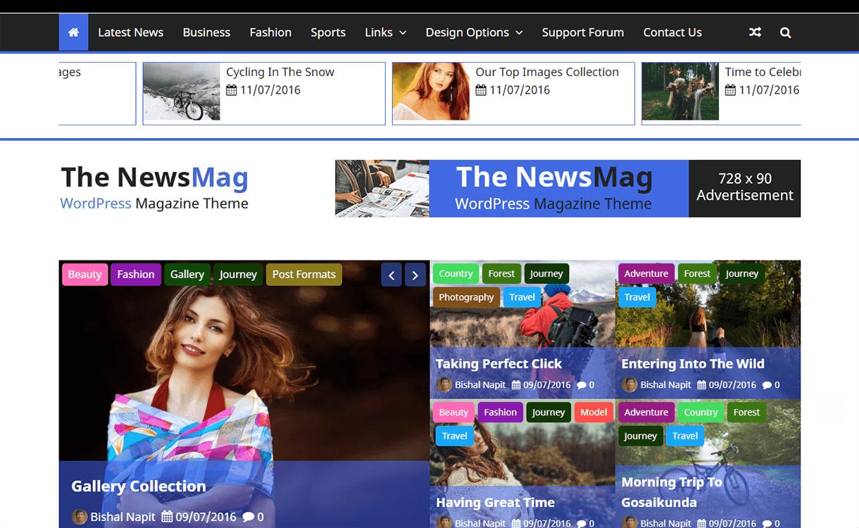 The NewsMag-Free Magazine WordPress Theme