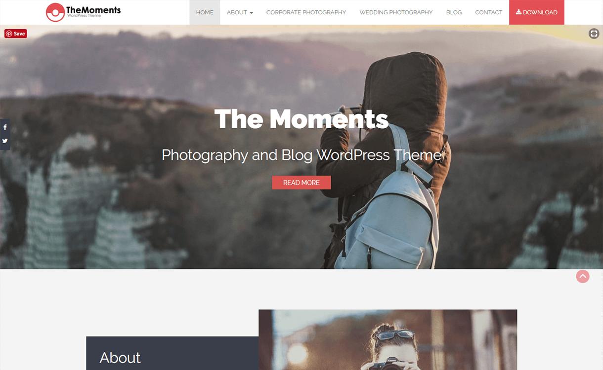 TheMoments-Best Free WordPress Themes November 2017