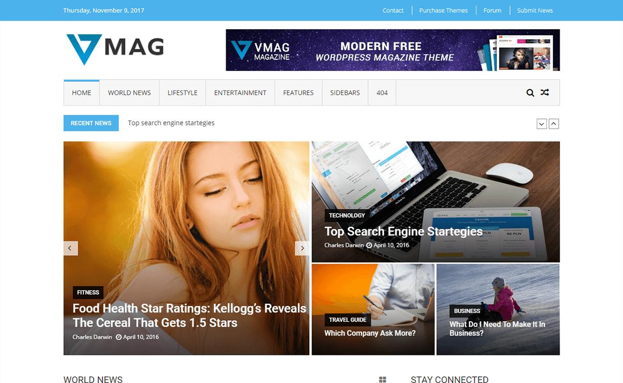 VMag-Free Magazine WordPress Theme