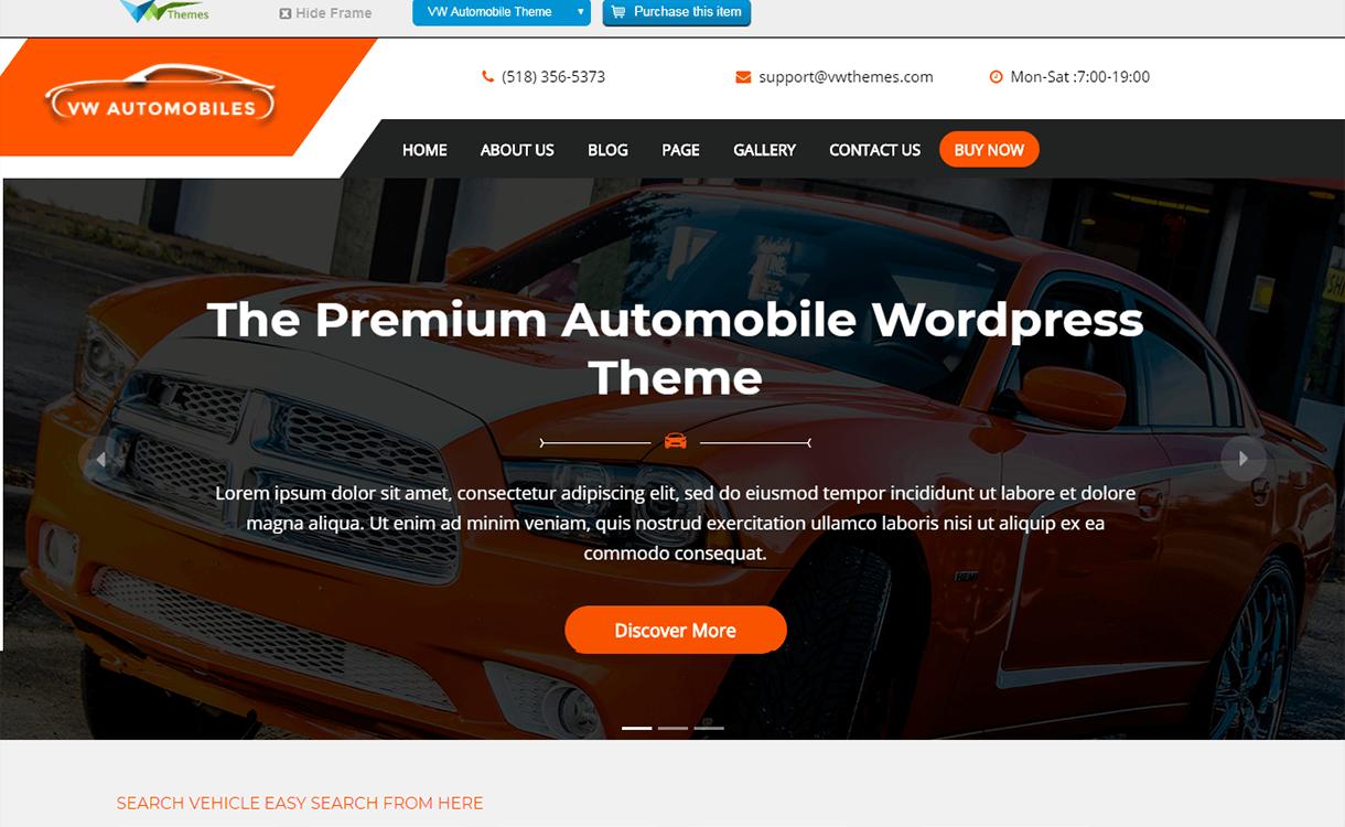 VW automobile Lite-Best Free WordPress Themes November 2017