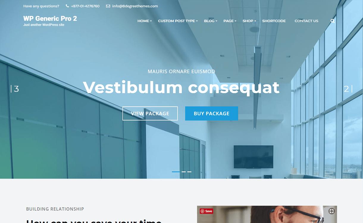 WP Generic Pro-Best Premium WordPress Business Agency Themes